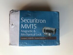 Securitron Electromechanical Maglock Mm15dt 12 24v 4000 Lbs Satin Stainless