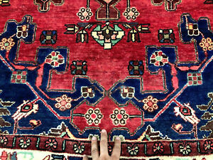 5x7 Vintage Rug Wool Hand Knotted Oriental Handmade Antique Carpet Red 4x7 4x6
