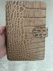 Filofax Classic Croc Personal Size Planner Taupe Leather