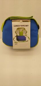 Insulated Lunch Tote Set with 2 Food Containers