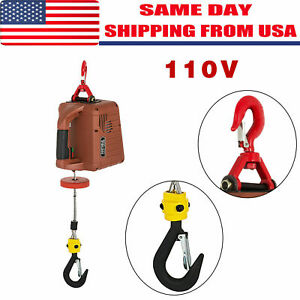 110v Electric Hoist Winch Ac Corded Version 885000 Pullzall Hand Held 120v