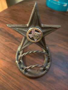 Texas Star Metal Business Card Holder With Middle Emblem
