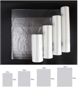 1 Roll Hdpe Clear Bag Plastic Grocery Supermarket Fruit Food Vegetable Bags 900g
