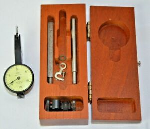 Vintage 1940 s Brown Sharpe Dial Test Indicator 0001 Model 1 With Wooden Box