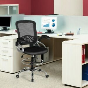 Adjustable Height Mid Back Mesh Drafting Chair