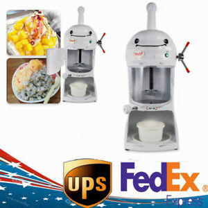 New 350w Ice Shaver Machine Snow Cone Maker Shaved Icee 90kg h Electric Crusher