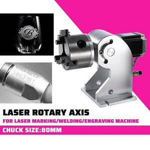 C02 Laser Rotaion Axis Cylinder Rotary Laser Engraver 80mm Marking Engraving Cnc
