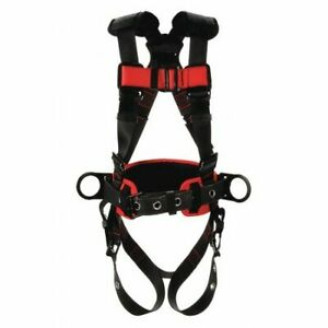 3m Protecta 1161310 Full Body Harness Vest Style Xl Polyester Black