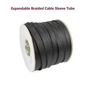 Expandable Wire Cable Sleeve Sheathing Flex Braided Loom Choose Hot Sizes Lot
