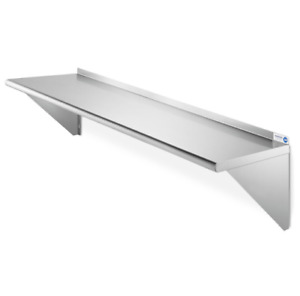 Commercial Wall Shelf Stainless Steel Kitchen Rack Stand Restaurant 60 Silver