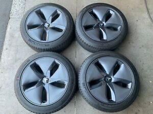 2020 Tesla Model 3 Factory 18 Wheels Tires Oem Rim 104422100a Michelin Acoustic