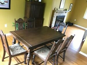 Jacobian Style Dining Room Set