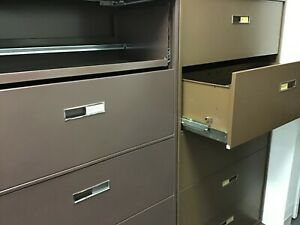 Quantity 12 Steelcase 5 Drawer 36 w X 65 h X 18 d File Cabinets