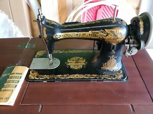 Vintage Singer Sewing Machine Model 15 With Table