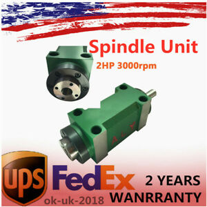 2 Hp Spindle Power Head Milling Unit 3000rpm Taper 2 For Cnc Milling Drilling