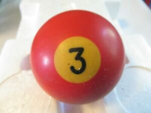 Vintage Billiards Pool Ball Gear Shift Knob Solid 3 Red