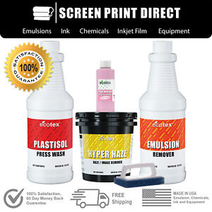 Plastisol Chemistry Kit For Screen Printing Removers Ink Degradent More