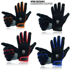 Mechanics Work Gloves Safety Heavy Duty Protection Gardening Builders Aj Wears
