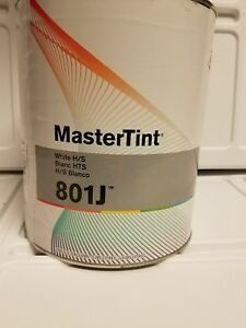 Dupont Axalta 801j Hs White Mastertint Toner Tint Gallon Chromabase Body Shop