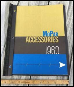 Vintage 1960 Mopar Accessory Catalog Chrysler Plymouth Imperial Dodge Desoto 300