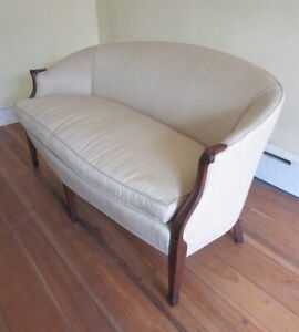 Stunning Vintage French Provincial Bergere Style Sofa