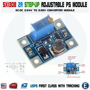 Sx1308 Step up 2 24v To 3 28v 2a Dc dc Boost Adjustable Power Converter Module