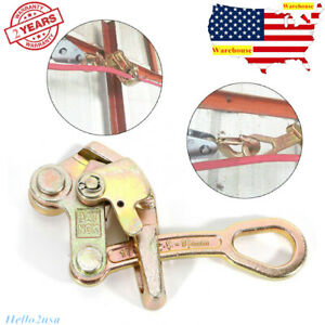 Alloy Steel New 1 Ton Cable Wire Rope Haven Grip Jaw Puller Pulling 2204 Lbs