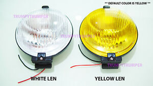 6 Denji Universal Fog Light Spot Lamp H3 12v 55w Yellow White