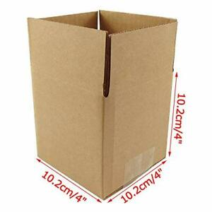 Small Cardboard Boxes 4x4x4 25 Pack Shipping Storing Gift Mailing Storing Lids