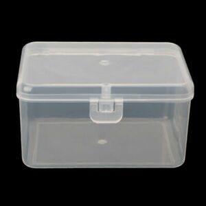 Small Transparent Storage Box Holder Jewelry Electronic Components Accessories