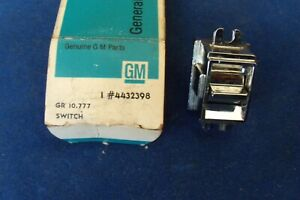1964 1965 Cadillac Nos Power Electric Window Blockout Switch Gm 4432398