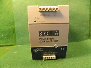 1 Sola Sdn 16 12 100p 12vdc 16 Amp Power Supply Used