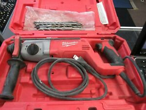 Milwaukee 5262 21 8 Amp Corded 1 Sds Plus Rotary Hammer In Case 7 Bits