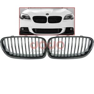Gloss Black M5 Style 12 Slat Grille For Bmw F10 520 528 535 550 09 16