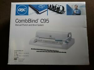 Gbc Combbind C95 Manual Punch Bind System 15 Page Punching 175 Sht Binding