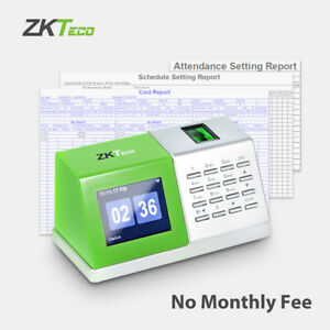 Fingerprint Time Clock Biometric Attendance Machine For Small Business Desktop