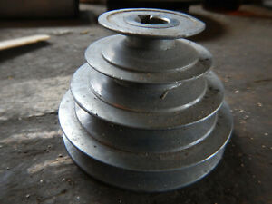Older 4 Step Pulley For Machine Jig Fixture Motor Drive 5 8 Bore