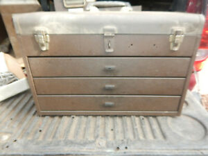 Older Machinist Toolbox With 3 Drawers Possible Waterloo Tool Chest Box
