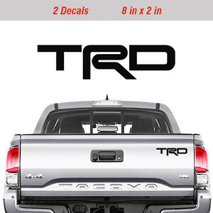 Toyota Trd Truck Off Road Racing Decals Tacoma Tundra Pair Vinyl Sticker Decal
