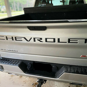 Chevrolet Tailgate 2019 2020 Silverado Letter Inserts Fits Decal Sticker Vinyl J
