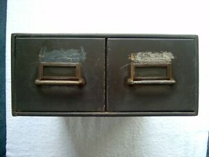 2 Drawer Metal Library Card File Cabinet