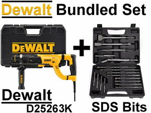 New Dewalt D25263k Sds Plus Rotary Hammer Chisel Drill Bits Or Kit Set