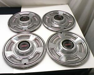Used 1967 Chevy Chevelle Ss 14 Wheel Covers Hub Caps Set Of Four Gm 3893342