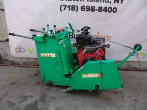 Edco Ss24 24h Honda 24hp Concrete Saw Walk Behind Self Propelled Only 267 Hours