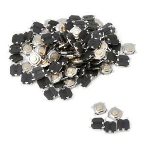 100pc Waterproof Microswitch Tactile Tact Push Button Switch Momentary Smd 4 Pin