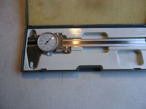 Dial Caliper 6 Shock Proof Metalworking Tool W Case Machinist