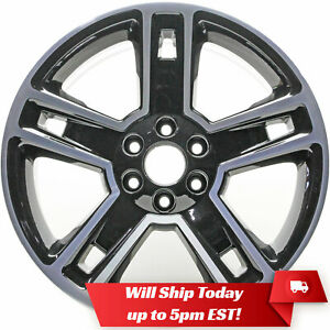 New Set Of 4 22 Black Wheels And Centers For 2007 2019 Chevrolet Tahoe Suburban