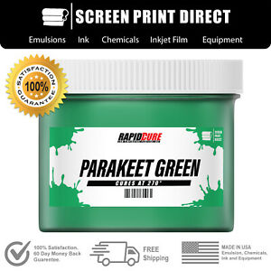 Parakeet Green Screen Printing Plastisol Ink Low Temp Cure 270f 8oz