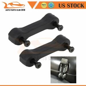 2x Black Hood Latch Locking Catch For 07 18 Jeep Wrangler Jk Unlimited