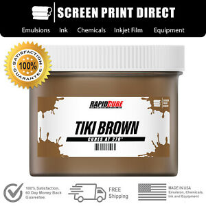 Tiki Brown Screen Printing Plastisol Ink Low Temp Cure 270f Quart 32oz